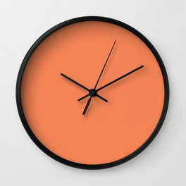 Flare ~ Tangerine Sherbet Coordinating Solid Wall Clock