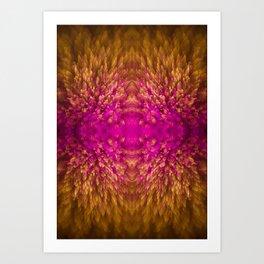Golden Iridescence Shimmer Art Print