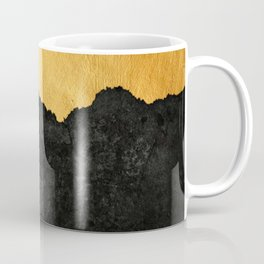 Black Grunge & Gold texture Coffee Mug