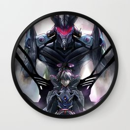Kaworu Nagisa the Sixth. Rebuild of Evangelion 3.0 Digital Painting. Wall Clock