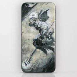 Gray Leap iPhone Skin