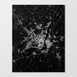 montreal map Canvas Print