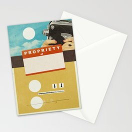 YOUR NAME HERE | Collage Stationery Cards