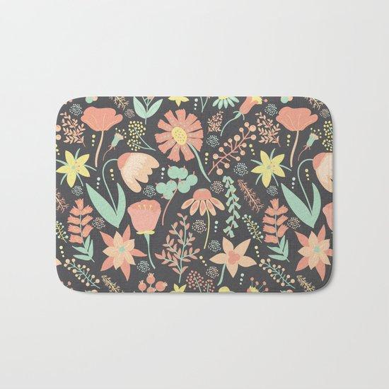 Peachy Keen Wildflowers Bath Mat