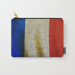 Cracked France flag Carry-All Pouch