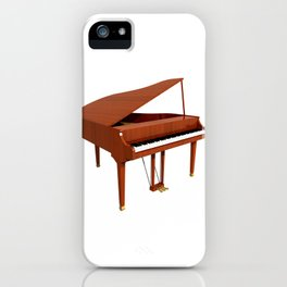 Grand Piano with Wood Finish iPhone Case