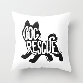 Dog Rescue Shelter Throw Pillow
