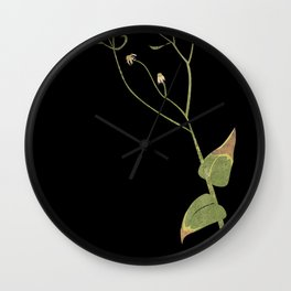 Collage of a Flowering Weed Wall Clock