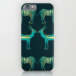 Teal and Gold Savanna iPhone Case