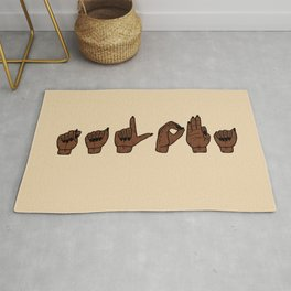 UrbanNesian Talofa Sign Language Rug