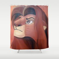simba Shower Curtains featuring Simba by Jgarciat