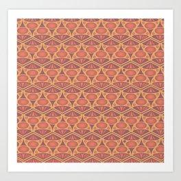 Faded Red Pattern Art Print