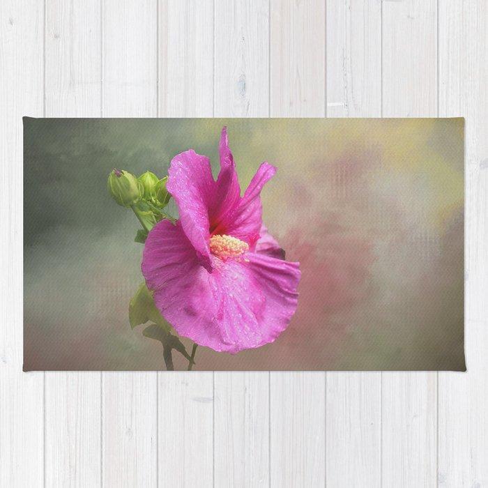 Hibiscus Flower Rug