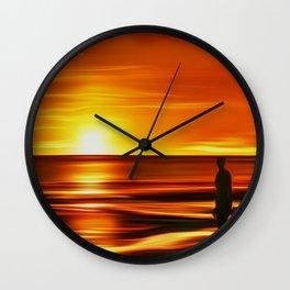 Gormley at Sunset Wall Clock