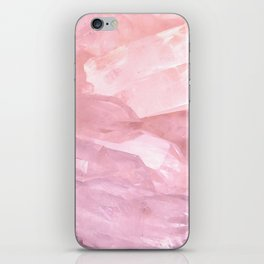 rose quartz iPhone Skin