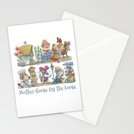 Mother Goose On The Loose Stationery Cards