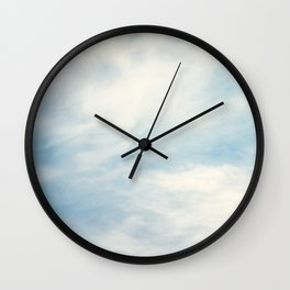 Blue Sky with White Clouds Wall Clock