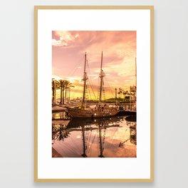 Shoreline Long Beach, California Framed Art Print