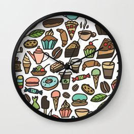 Coffee and pastry. Wall Clock