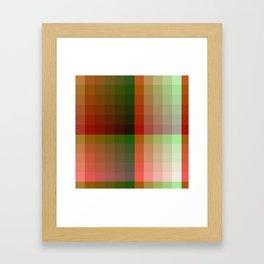 Color harmony ...red , green Framed Art Print