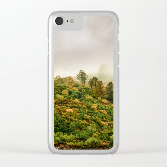 Autumn valley in the cloud Clear iPhone Case