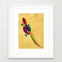 lizard Framed Art Prints featuring Lizard by Aleksandra Mikolajczak