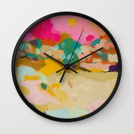 landscape light & color abstract Wall Clock