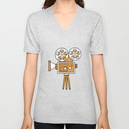 Movie Projektor Film Maker Or Director Gift Unisex V-Neck
