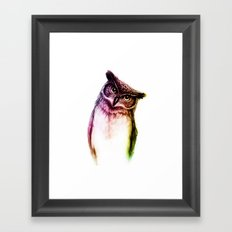 The wise Mr. Owl Framed Art Print