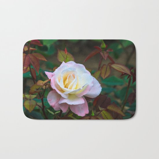 A rose Bath Mat