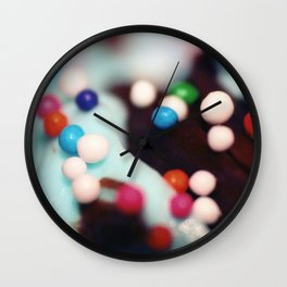 Sprinkle Mountains Wall Clock