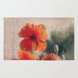 Red Poppies, Flowers Rug