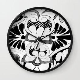 Black and White Talavera One Wall Clock