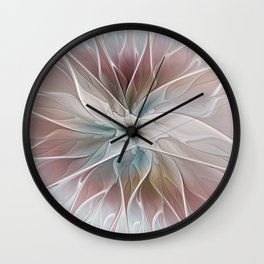 A Floral Friend, Abstract Fractal Art Wall Clock