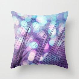 Feather Sparkles II Throw Pillow