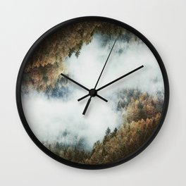 Forest Layers Wall Clock
