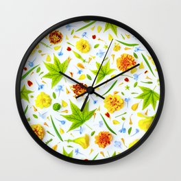 Leaves and flowers (11) Wall Clock