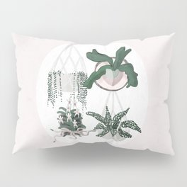 Plant Family Portrait for Plant Moms, Plant Ladies, and Plant Parenthood Pillow Sham