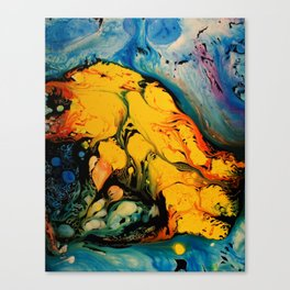 YELLOW SPLASH Canvas Print
