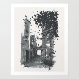 Lorgues Street Scene II Art Print