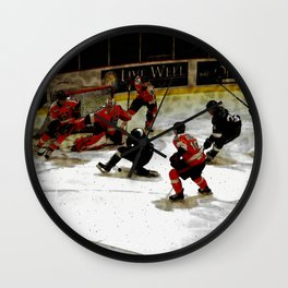 The End Zone - Ice Hockey Game Wall Clock