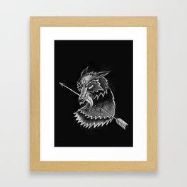 Steppen Wolf Framed Art Print