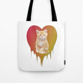 Cat in your heart Tote Bag