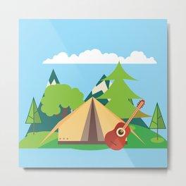 camping , outdoors , nursery decor , children gift, birthday gift Metal Print