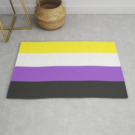 non binary pride flag Rug
