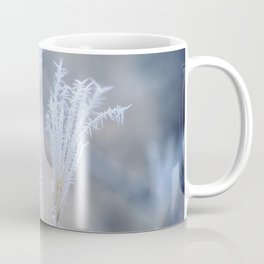 Cold Hoarfrost on the weeds in the winter Coffee Mug