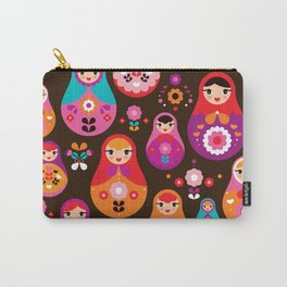 Russian Dolls illustration pattern print Carry-All Pouch