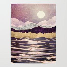 Lunar Waves Poster