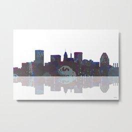 Baltimore Skyline BW1 Metal Print
