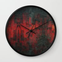 vagina Wall Clocks featuring Ruddy by Aaron Carberry